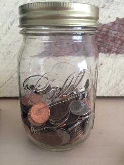 Ball jar (upcycled)