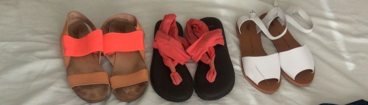 3 pairs of sandals